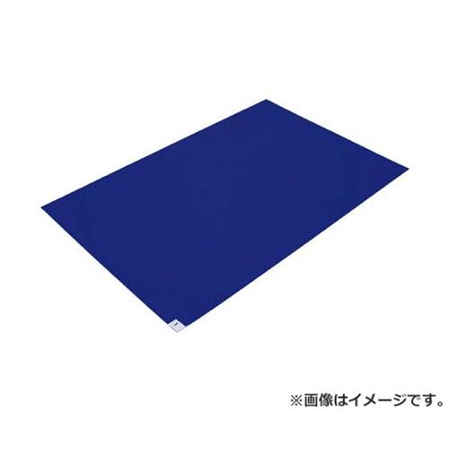 TRUSCO 粘着クリーンマット 600X450MM ブルー 20シート入 CM604520B [r20][s9-910]