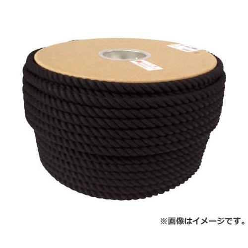ユタカ ロープ 綿ロープドラム巻 12φ×100m ブラック PRC61 [r20][s9-910]