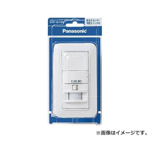 Panasonic コスモワイド壁取付 熱線センサ付自動スイッチ WTP1811WP [r20][s9-910]