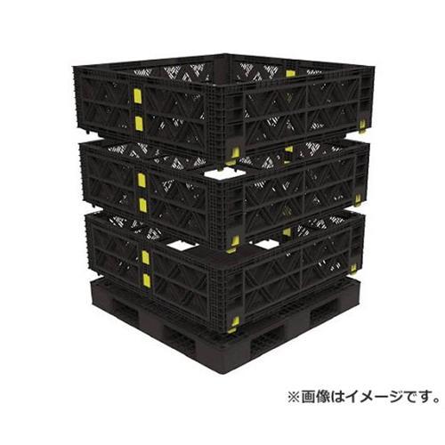 TRUSCO マルチステージコンテナ メッシュ 3段 1100X1100 黒 TMSCM1111BK [r21][s9-930]