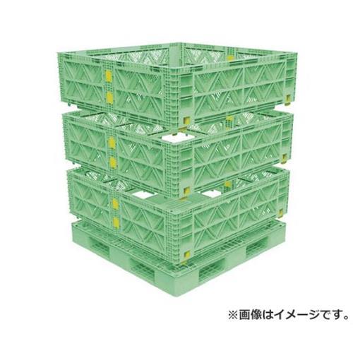 TRUSCO マルチステージコンテナ メッシュ 3段 1100X1100 緑 TMSCM1111GN [r21][s9-930]