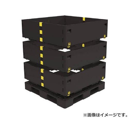 TRUSCO マルチステージコンテナ 3段 1100X1100 黒 TMSCS1111BK [r21][s9-930]