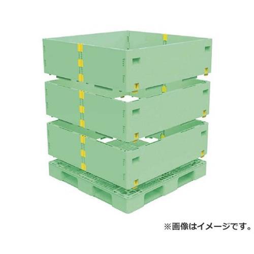 TRUSCO マルチステージコンテナ 3段 1100X1100 緑 TMSCS1111GN [r21][s9-930]