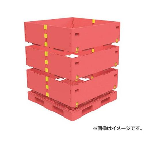 TRUSCO マルチステージコンテナ 3段 1100X1100 赤 TMSCS1111R [r21][s9-930]