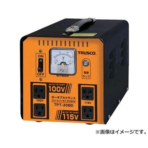 TRUSCO ポータブルトランス 30A 3kVA 降圧・昇圧兼用型 TPT30BD [r20][s9-910]
