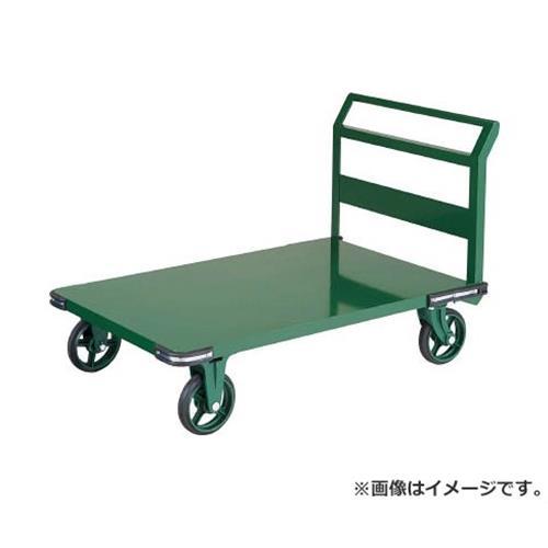 TRUSCO 鋼鉄製運搬車 1200X750 ハンドル側自在車 鋳物車輪 OH1R [r21][s9-930]