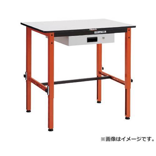 TRUSCO 高さ調整式作業台 TFAEM型 薄型1段引出付 900X600 TFAEM0960UDK1 [r20][s9-920]