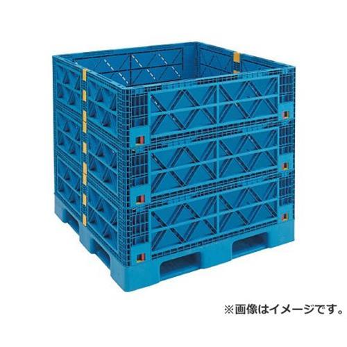 TRUSCO マルチステージコンテナ 3段 1100X1100 青 TMSCS1111B [r21][s9-930]