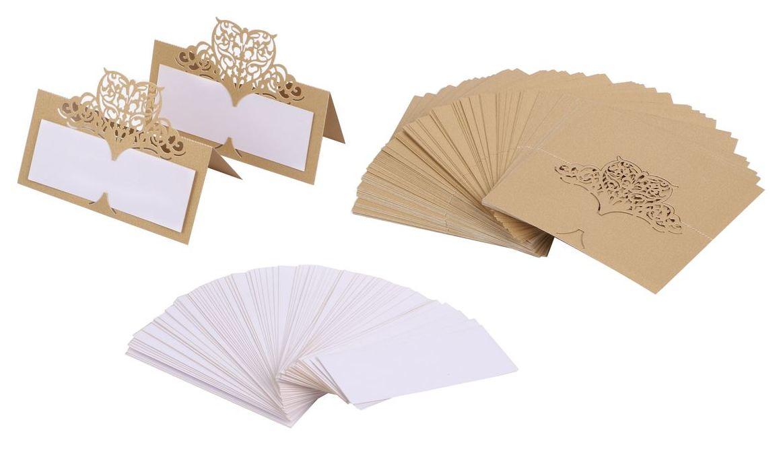 テーブルカード プレイスカード カード せきふだ なまえふだ 名前カード ネームカー 素敵な ハート レース 手作り 席札 名前札 ウェディング 爆買いセール おしゃれ 80組セット パーティー 送料無料 mmk-m92 結婚式 2020新作