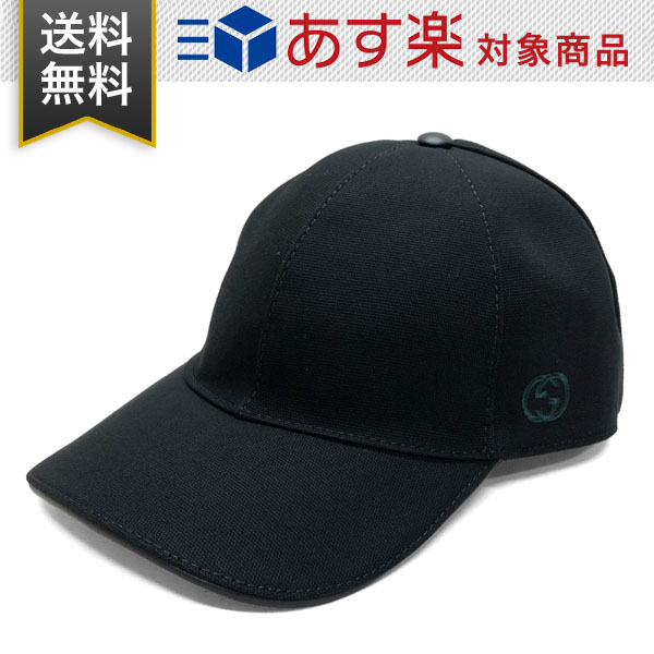 GUCCI 帽子 新品 送料無料 ギフト・プレゼント包装無料 グッチ 帽子 GUCCI コットン 387554 4H010 1000 HAT BAS PAFOD O ベースボールキャップ ブラック メンズ レディース