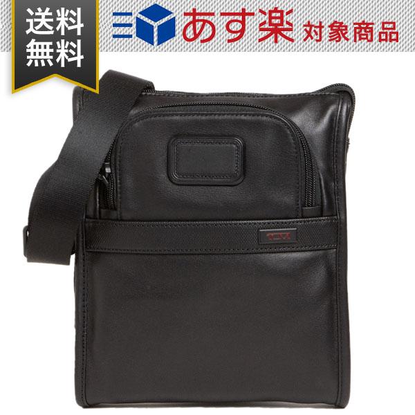TUMI トゥミ メンズ ショルダーバッグ ALPHA 2 LEATHER POCKET BAG SMALL レザー ポケット バッグ スモール 92110D2 ブラック