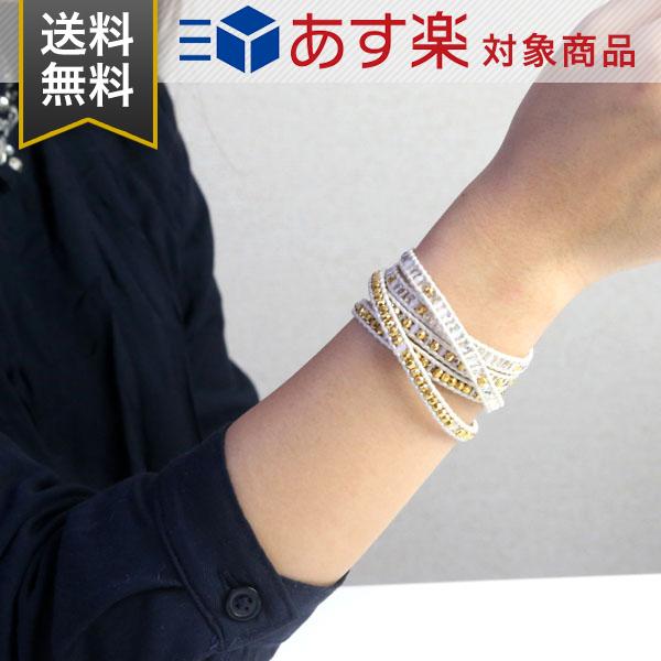 チャンルー ブレスレット CHAN LUU 5連 ラップ クリスタルビーズ ミックス BG 5107 Crystal AB Mix