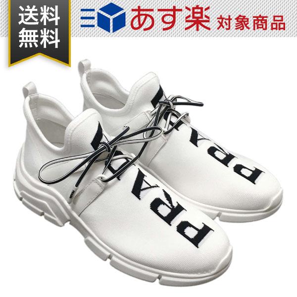 WEB限定 PRADA 靴 新品 送料無料 ギフト プレゼント包装無料 プラダ ニット 時間指定不可 ホワイト F0964 22.5cm-24.0cm 1E344L 3V98 レディース スニーカー