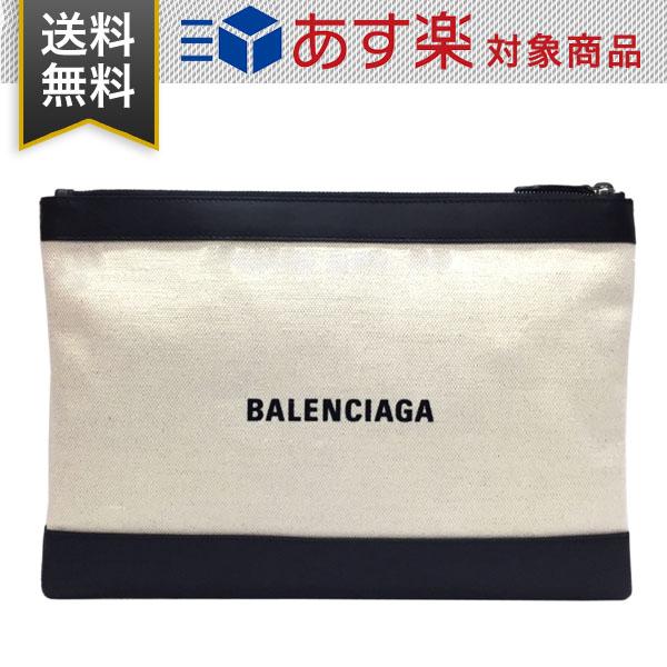 バレンシアガ BALENCIAGA メンズ クラッチバッグ 373834 AQ3BN 9260 クリーム ブラック レザー