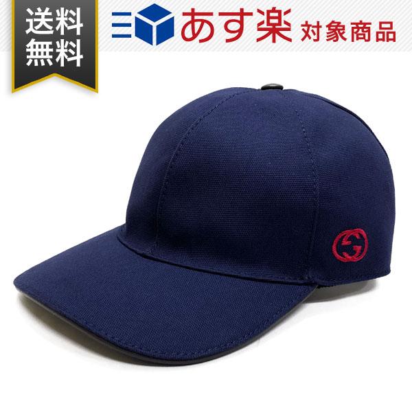 グッチ 帽子 GUCCI コットン 387554 4H010 4000 HAT BAS PAFOD O ベースボールキャップ ネイビー メンズ レディース