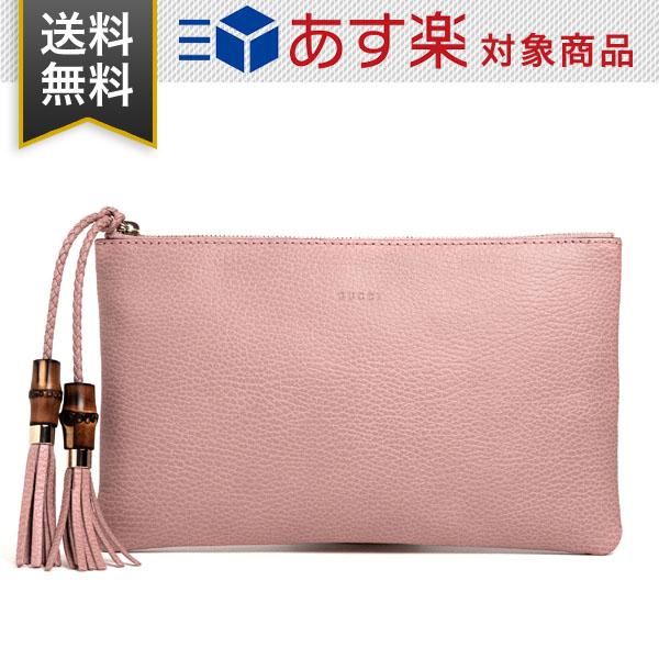 グッチ バッグ レディース GUCCI アウトレット 449652 CAO0G 5806 バンブータッセル付き クラッチバッグ レザー ピンク