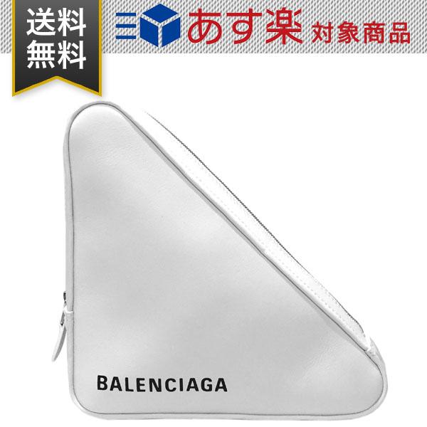 バレンシアガ バッグ BALENCIAGA 476976 C8K02 9000 トライアングル クラッチバッグ レザー ホワイト