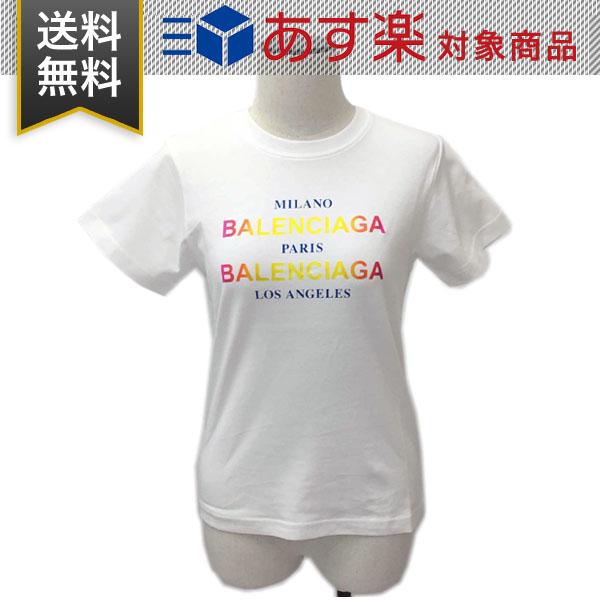 バレンシアガ Tシャツ レディース BALENCIAGA 504156 TYK22 9000 クルーネック 丸首 コットン ホワイト