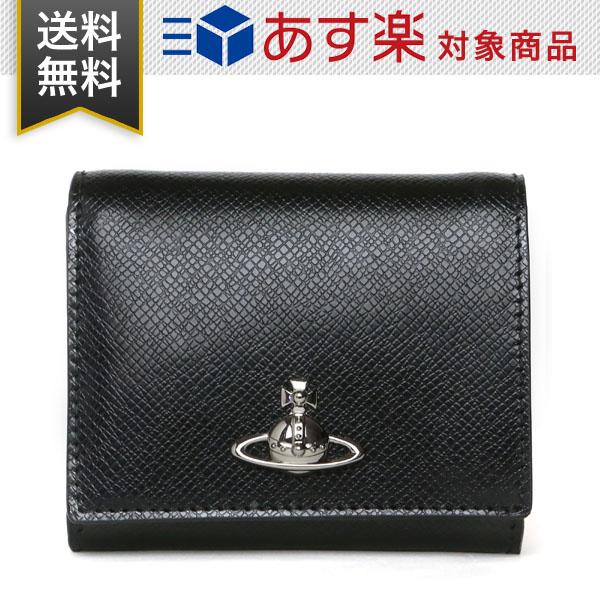 ヴィヴィアン ウエストウッド 財布 Vivienne Westwood レディース 二つ折り財布 コインケース 52010006 40531 N401 ブラック レザー