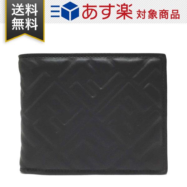 フェンディ 財布 FENDI 7M0001 A72V F0GXN メンズ BAG BUGS EYE バッグ バグズ アイ 二つ折り財布 黒 ブラック