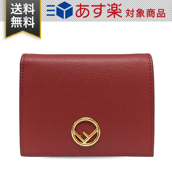 フェンディ 財布 レディース FENDI 8M0387 A18B F0MVV エフ イズ フェンディ 二つ折り財布 レッド