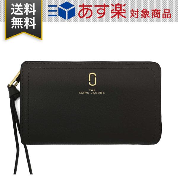 マーク ジェイコブス 財布 ザ ソフトショット コンパクト ウォレット Marc Jacobs M0015120 001 レディース 二つ折り 財布 レザー ブラック