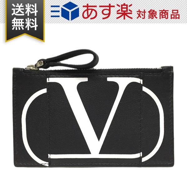 ヴァレンティノ 財布 ガラヴァーニ メンズ レディース コインケース兼カードケース VALENTINO SY2P0540PCR NER ブラック レザー