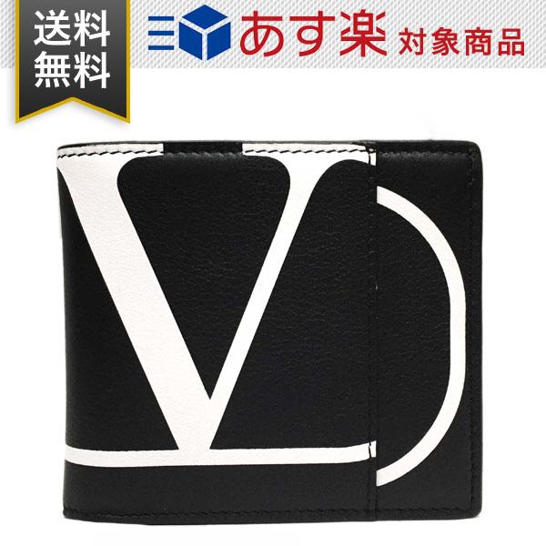 ヴァレンティノ 財布 ガラヴァーニ メンズ 二つ折り財布 VALENTINO SY2P0654PCR NER ブラック レザー 小銭入れ無し