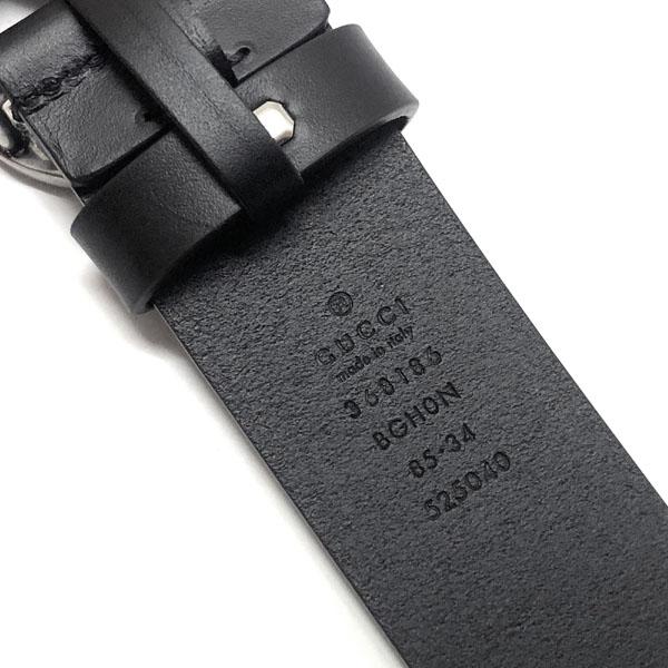グッチ ベルト GUCCI レザー ベルト インターロッキングGバックル368186 BGH0N 1000 メンズ カジュアルベルト ブラックBorxeWQdC
