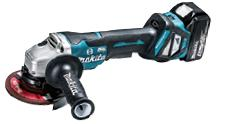 マキタ 充電式ディスクグラインダ/パドルスイッチ GA518DRG 18V 6.0Ah 充電器・ケース付 外径125mm