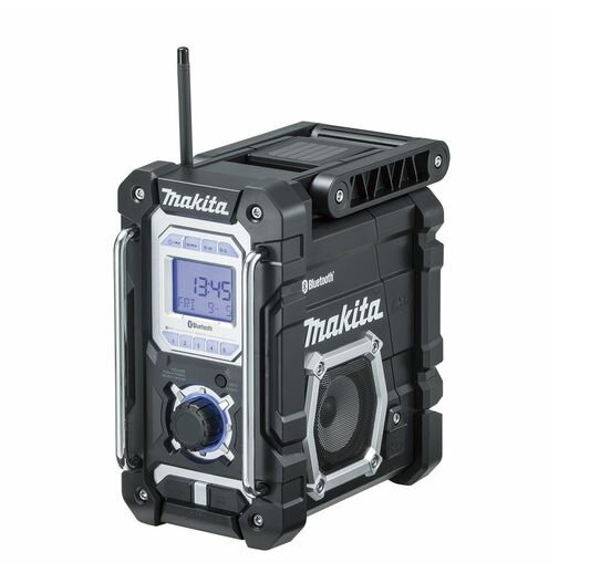 Bluetooth対応 スマートフォン 携帯機器等の音楽がワイヤレスで簡単に楽しめる 大好評です makita 売り込み マキタ 充電式ラジオ 黒 バッテリ ブラック MR108B 充電器別売