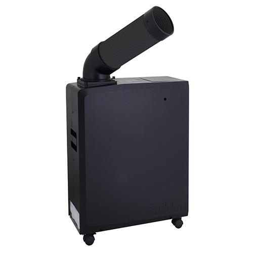 【メーカー直送 本州・四国・九州への配送限定】スイデン ポータブルスポットエアコン 冷風1口 軽量 SS-16MZB-1 100V 黒色