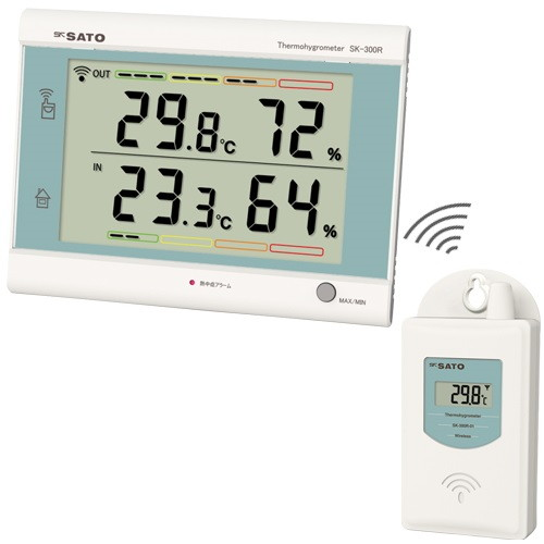 最高最低無線温湿度計 SK-300R 佐藤計量器製作所