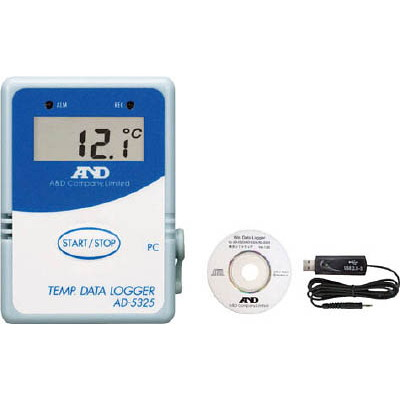 エー・アンド・デイ A&D 温度データーロガー 8000メモリースタート・セット AD5325SET