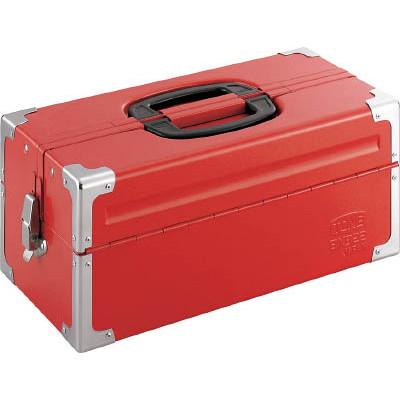 TONE ツールケース(メタル) BX322 V形2段式 433X220X195mm レッド