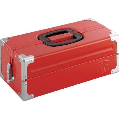 TONE ツールケース(メタル) V形2段式 433X220X160mm レッド BX322S