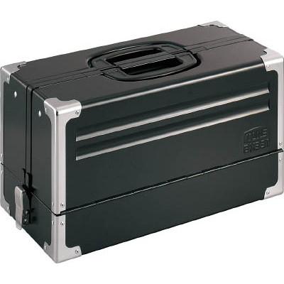 作業用品 工具箱 ツールバッグ スチール製工具箱 今だけスーパーセール限定 メーカー欠品中 激安 TONE V形3段式 BX331BK メタル ツールケース マットブラック