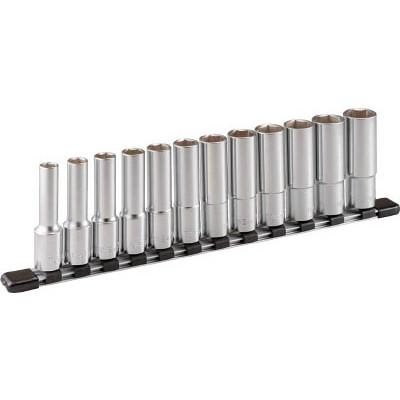 作業用品 スーパーセール ソケットレンチ ソケット 2020 TONE ディープソケットセット HSL412 6角 12pcs ホルダー付