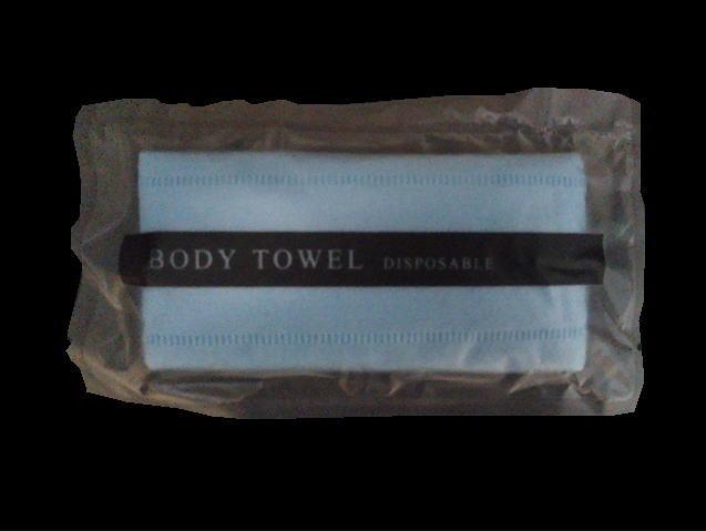【送料無料】(北海道・九州・沖縄・離島は除く)不織布ボディタオルブルー マット袋入り 1000ケ