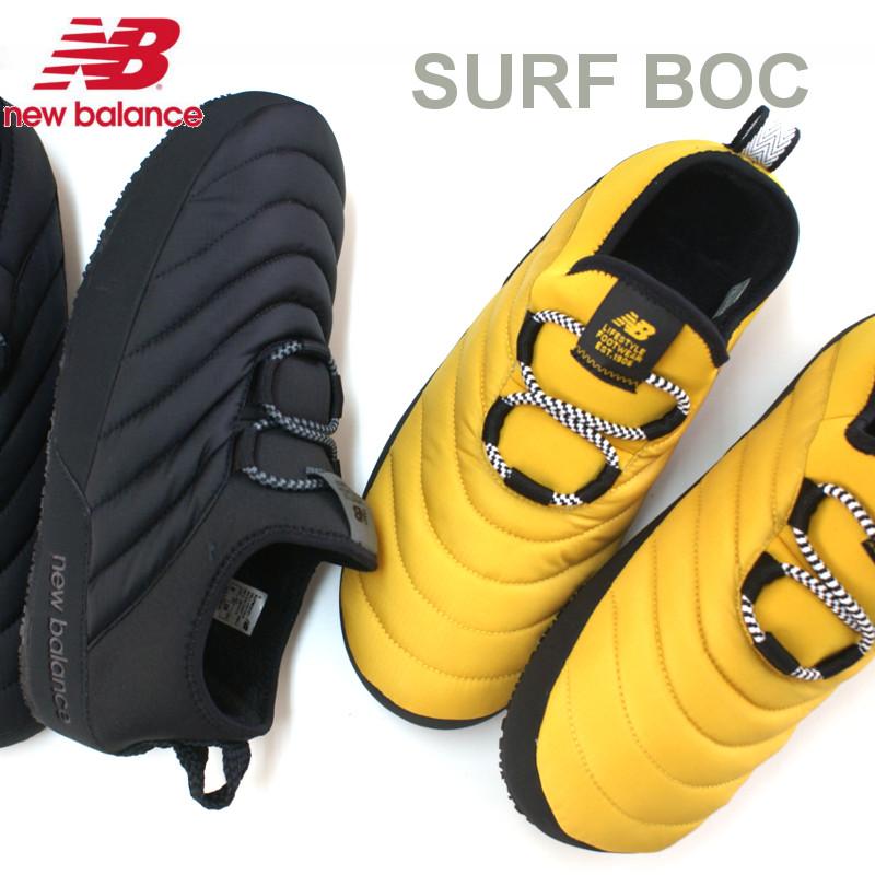 ニューバランス アウトドア シューズ スリッポン SURF MOC ブラック・イエロー CARAVAN MOC