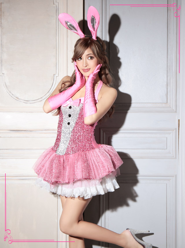 95d203c086 スコスチュームセット of the pretty bunny☆ It is lovely mature costume play clothes♪