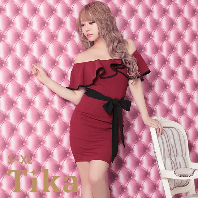 84270ca948a5c キャバ ドレス 盛りドレス キャバドレス キャバ嬢 キャバクラ ミニドレス ミニ ワインレッド レッド 赤