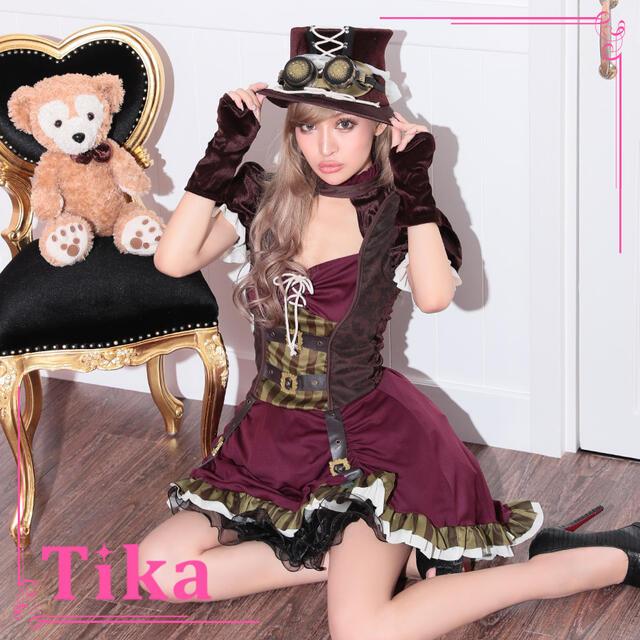 【あす楽 送料無料】お化けの日 Tika スチーム パンク風 パイレーツ ワンピース ハット アームカバー ハロウィン コスプレ 衣装 仮装 コスチューム コス ハロウィンコスプレ 大人 レディース 可愛い かわいい 海賊 女海賊