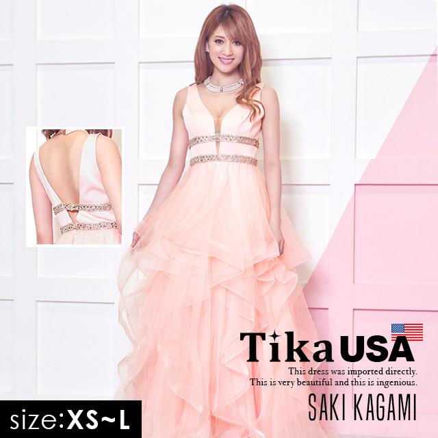 【50%セール】 Tika インポート キャバ ドレス ビジュー 大人 キャバドレス マーメイド スカート ロングドレス ピンク XS S M L 大きいサイズ キャバ 大人 キャバドレス キャバ嬢 キャバクラ ドレス ロング ドレス ノースリーブ セクシー