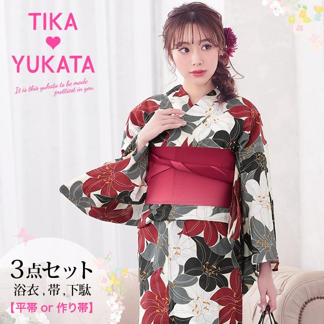 5db5d6d8f Woman yukata set yukata Japanese binding kimono retro floral design classic  classic handle fireworks display summer ...