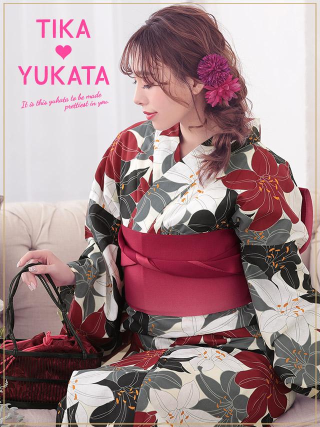 287934a2b ... Woman yukata set yukata Japanese binding kimono retro floral design  classic classic handle fireworks display summer ...