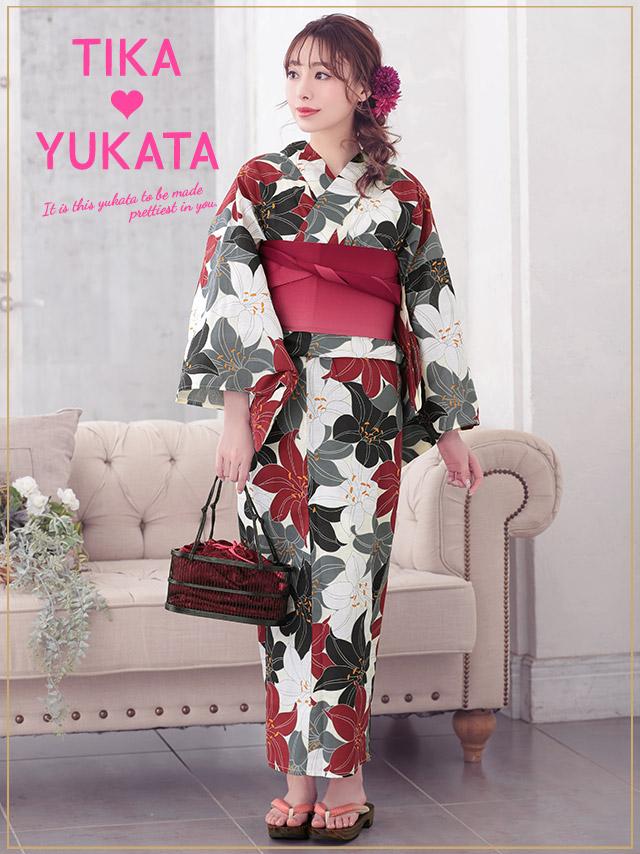 10d956ad3 Woman yukata set yukata Japanese binding kimono retro floral design classic  classic handle fireworks display summer festival festival minette for the  Tika ...