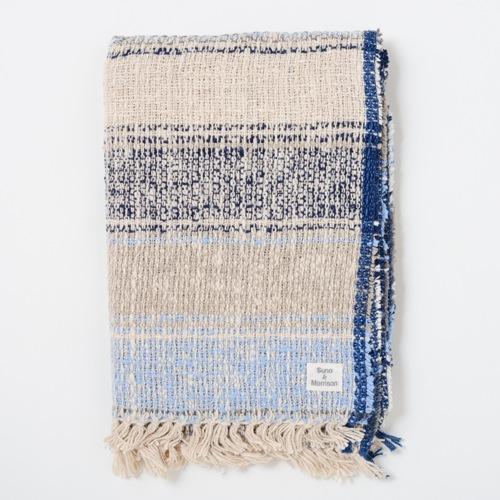 Suno & Morrison ガラ紡 ミディアムストール Bolivian Blue