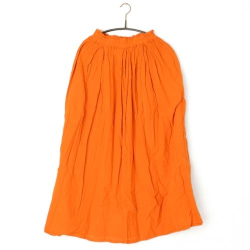 鄭惠中さんの 綿麻スカート(薄手・フリーサイズ) 橙色
