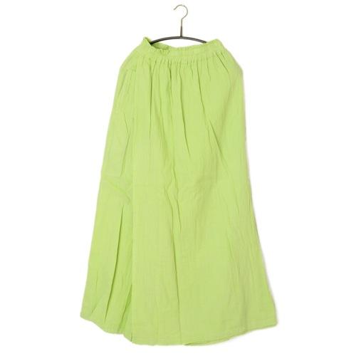 鄭惠中さんの 綿麻パンツスカート(フリーサイズ) 濃若菜色